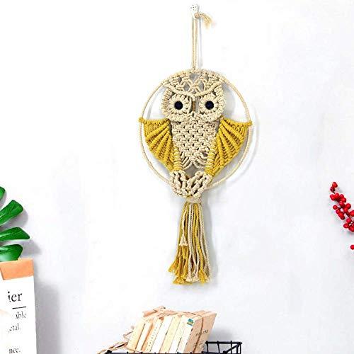 nobranded Gewebte Wandbehang Vorhang Tapisserie Kreative Eule Niedliches Tier Handgemachte Wanddekoration Wandbehang Wohnkultur Für Schlafzimmer Wohnzimmer