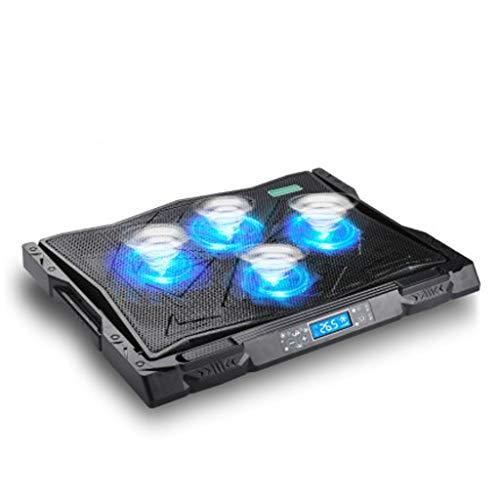 Base Portatil Base Refrigeradora Almohadilla portátil de refrigeración 12 '-17' refrigerador portátil ultra silencioso juego portátil refrigerador de pie, con pantalla LCD de visualización de la tempe