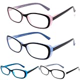 CRGATV 4 Pack Blue Light Blocking Reading Glasses Computer Readers for Women