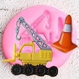 WYNYX Strumenti di Decorazione della Torta di Compleanno Crane Car Stampo in Silicone Cupcake Topper Fondente Cottura Candy Clay Chocolate Gumpaste Stampi