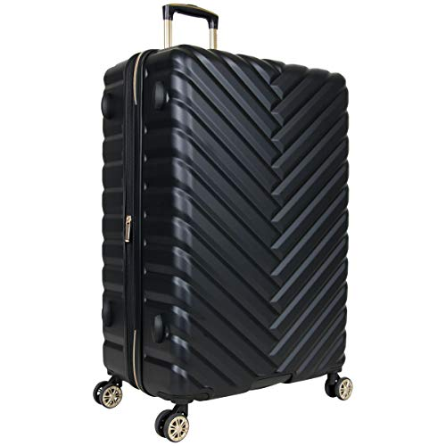Kenneth Cole Reaction Women's Madison Square Hardside Chevron Expandable Luggage, Black, 28-Inch Checked