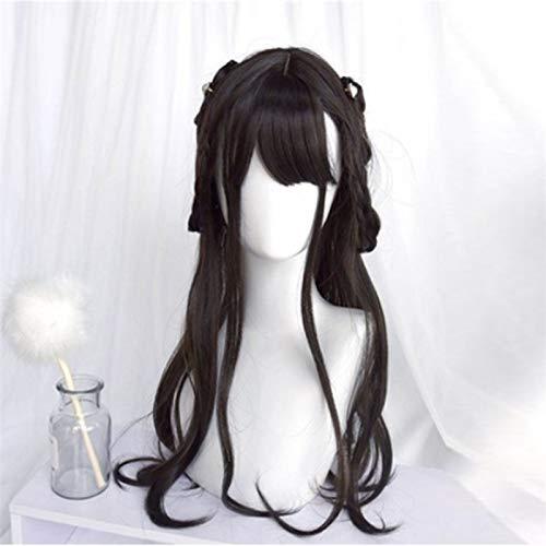Perruque Femmes Parti Noir naturel 60CM Lolita Cute Girl longue onduleux Ombre cheveux résistant à la chaleur synthétique cosplay perruque Postiches