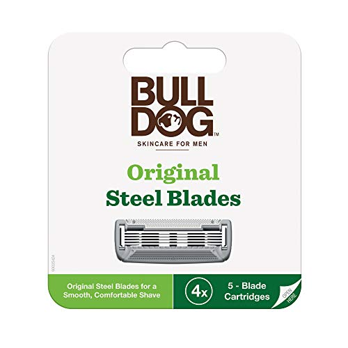 Bulldog Mens Skincare and Grooming Original Razor Blades Refills for Men, 4 Count