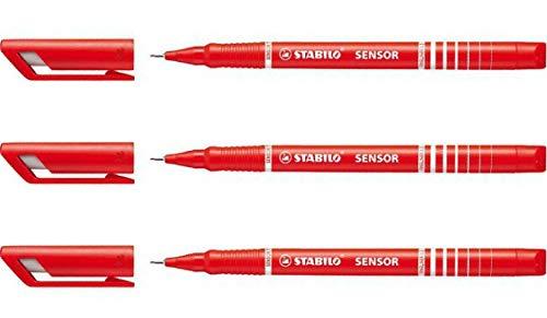 """STABILO Fineliner sensor 4er Kunststoff-Etui /""""Office/"""""""