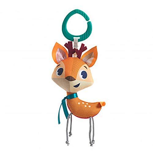 Tiny Love - Baby Spielzeug Tiny Smarts Florence Reindeer, Rassel für Babyschale, Kinderwagen und unterwegs, ab der Geburt (0M+), erzeugt ein herrliches Rasselgeräusch, mehrfarbig