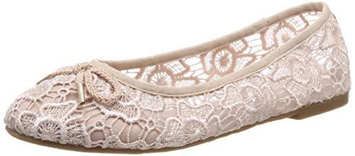 Tamaris Damen 1-1-22142-22 503 Geschlossene Ballerinas Pink (ROSE MACRAMEE 503), 38 EU