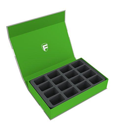 Feldherr Magnetic Box Green for 16 Blood Bowl Miniatures - 2016 Edition
