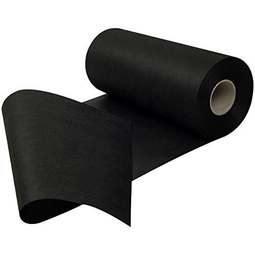 Sensalux Tischläufer, Tischband, stoffähnliches Vlies, Standard 100 by Oeko-TEX® - Klasse I Zertifiziert, 30cm x 25m, schwarz