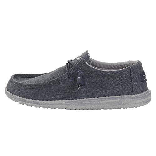DUDE Scarpe Classico Di Wally Oceano Slip On/ Bungee scarpe / Sabot in UK6 to UK15 - Blu, 10 UK