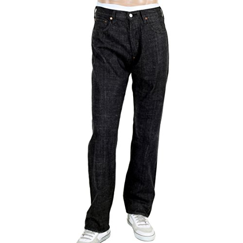 EVISU Diacock Vintage Cut Denim Jeans Black