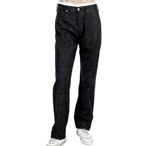 EVISU Diacock Vintage Cut Denim Jeans Gr. (30W) UK, Schwarz