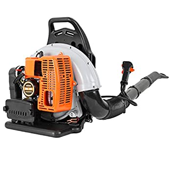 3Hp Gas Powered Backpack Leaf Blower 63cc 2-Stroke Gas Powered Cordless Leaf Blower Engine Back Pack Leaf Blower 196/230 Mph Air Speed for Yard Cleaning Lawn Care  A