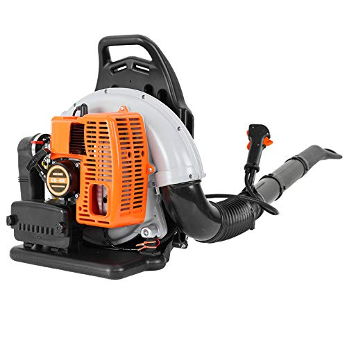 3Hp Gas Powered Backpack Leaf Blower, 63cc 2-Stroke Gas Powered Cordless Leaf Blower, Engine Back Pack Leaf Blower, 196/230 Mph Air Speed, for Yard Cleaning Lawn Care (A)