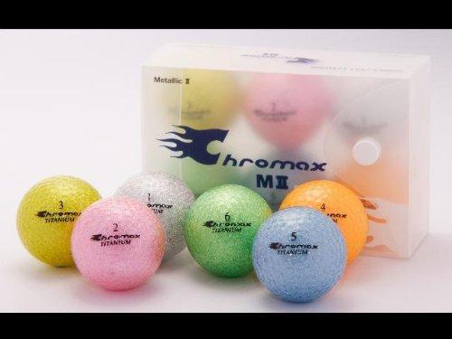 Golf Chromax M2 Golf Ball Green Glitery New