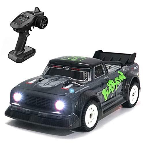 WGFGXQ Juguete eléctrico para niño y niño, 4WD Drift RC Car, 30 + KM/H 2.4G 4CH Control Remoto Drift Car 1:16 Escala Listo para Correr Coche de Carreras con Faro -