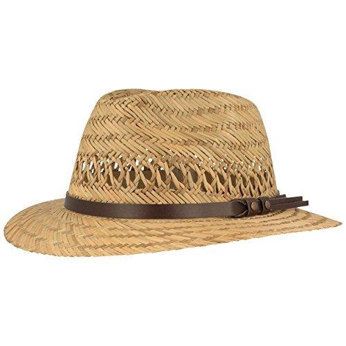 Hut Breiter Kinder Strohhut | Sommerhut | Sonnenhut – aus 100% Stroh Made IN Italy – Für Junge & Mädchen - Besonders Leicht & Bequem mit Kunstleder-Garnitur