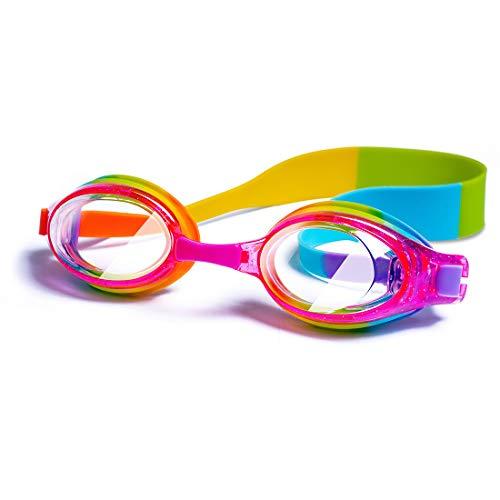 iToobe Lunettes de natation pour enfants de 3 à 14 ans, garçons et filles, adolescents, vision claire, étui de protection gratuit (Rainbow)