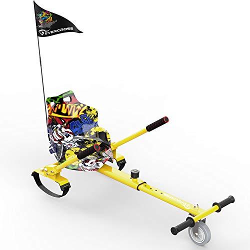 NEOMOTION Hoverkart, Sedile Hoverboard,Hoverkart per Hoverboard,Compatibile con Hoverboard 6.5-10 con Bandiera