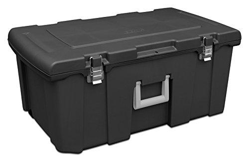 STERILITE 18429001 Footlocker, Black, 1-Pack