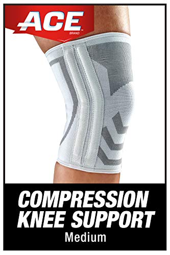 ACE-207354 Compression Knee Brace with Side Stabilizer, Helps support weak, injured, arthritic or sore knee, Satisfaction Guarantee,Medium(Pack of 1)