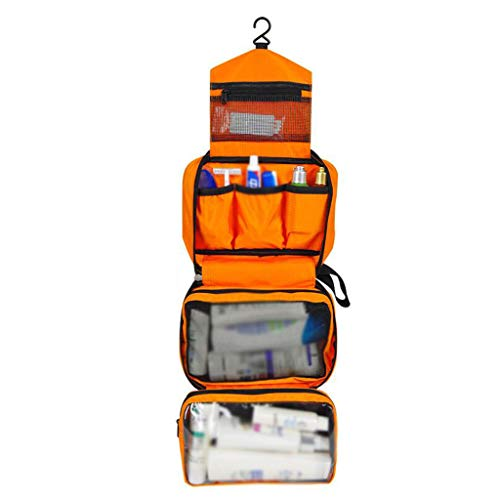 Stockage Cosmétique Sac Pliant Imperméable De Grande Capacité Portable Multifonctionnel Simple Lavage De Voyage Universel 5 Couleur 24.5 * 8 * 16cm MUMUJIN (Color : Orange)