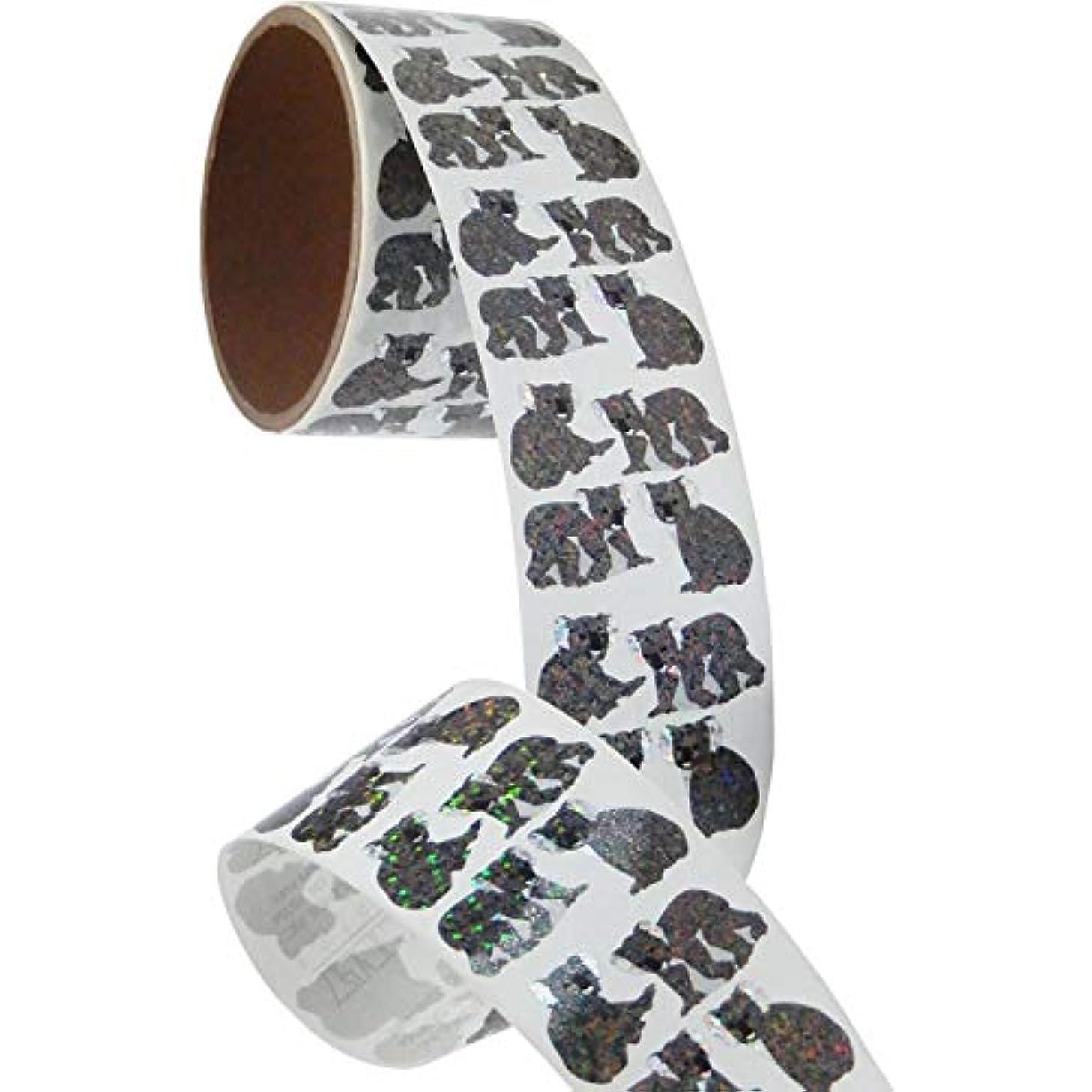 Bulk Roll Prismatic Stickers, Mini Koala Bears (100 Repeats)