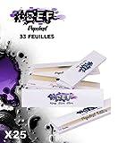 Feuilles à rouler #DEF King Size Slim grande taille - lot de 25 carnets de 33 Feuilles longues qualité OCB ou JASS