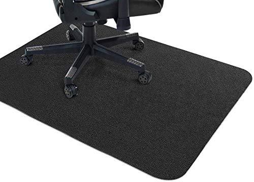Alfombrilla para silla de oficina, protector de suelo duro, antideslizante, alfombrilla protectora de suelo rectangular para el hogar, alfombra de suelo de madera, oficina (negro, 139,7 x 88,9 cm)