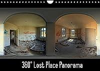 360° Lost Place Panorama (Wandkalender 2022 DIN A4 quer): 12 hochwertige 360° Panoramen von verlassenen, stillgelegten Orten (Monatskalender, 14 Seiten )