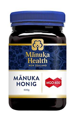 Manuka Health - Manuka Honig MGO 400+ 500g - 100% Pur aus Neuseeland mit zertifiziertem Methylglyoxal Gehalt