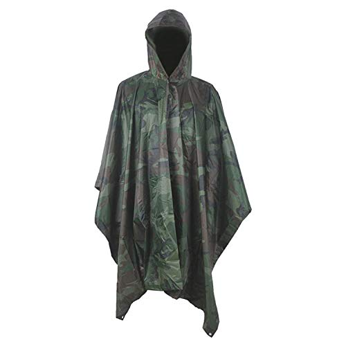 SHUHANX Poncho Impermeable Impermeable Militar multifunción