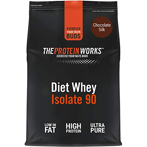 THE PROTEIN WORKS Diet Whey Isolate 90 Protein Powder | Low Fat & Low Calorie | Ultra Pure Shake | Supports Dieting & Weight Loss | Chocolate Silk | 1 Kg