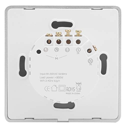 Onewer Interruptor de luz táctil, Interruptor de Control WiFi, Interruptor de Control de la aplicación, Interruptor de luz de Pared para hogar Inteligente para escenas Inteligentes
