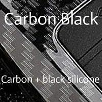 カーボン車のキーケースシボレークルーズトラバーススパークソニックマリブimpala equinoxカマロキーホルダーバッグリモートfob保護カバー-Carbon Black, For Key G