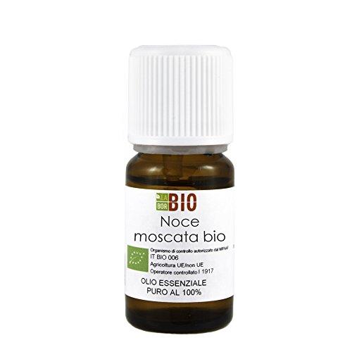 Olio essenziale NOCE MOSCATA BIO 5ML 100% PURO E NATURALE - AROMATERAPIA COSMETICA ALIMENTARE