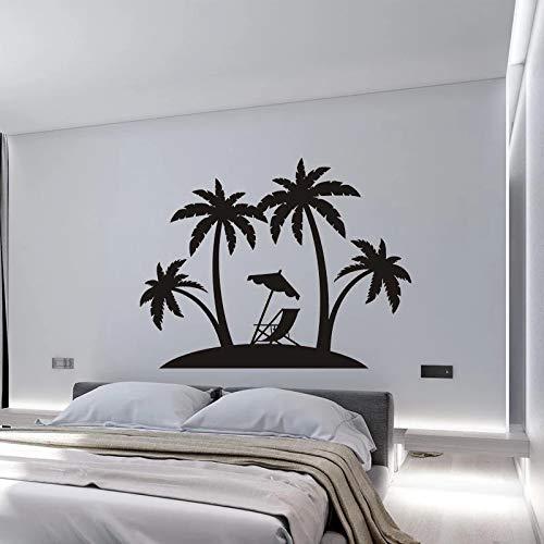 WERWN Moda Creativa Palm Beach Pegatina Vinilo Isla Pegatina árbol de Coco Sala de Estar Dormitorio Coche Fortune Island