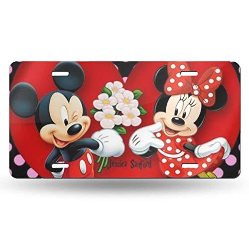 Suzanne Betty Aluminum License Plates - Minnie Love Mickey License Plate Tag Car Accessories 12 X 6 Inches