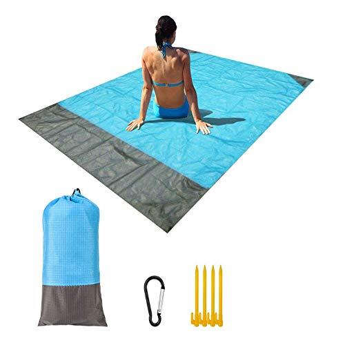 RLP Strandmatte, extra groß, wasserdicht, leicht und schnelltrocknend, hitzebeständig, Sandfreie Picknick-Matte, geeignet für Reisen, Camping, Wandern und Musik-Festivals