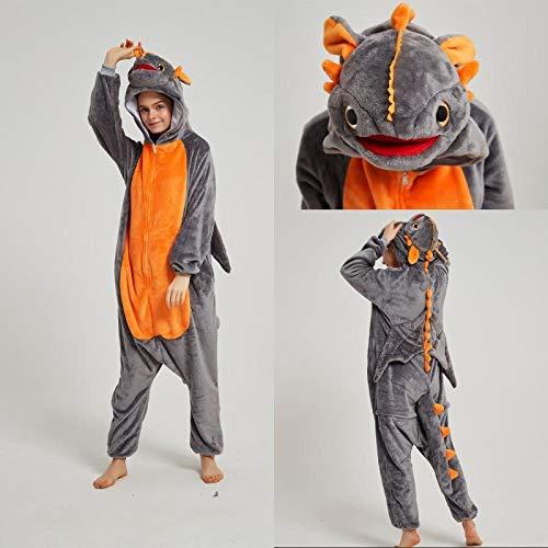 Ropa de dormir para adultos de forro polar Kigurumi Cookie Monster Cosplay Disfraz Animal Enterizo Pijamas Halloween Carnaval Masquerade Fiesta Mono de Dragón sin dientes