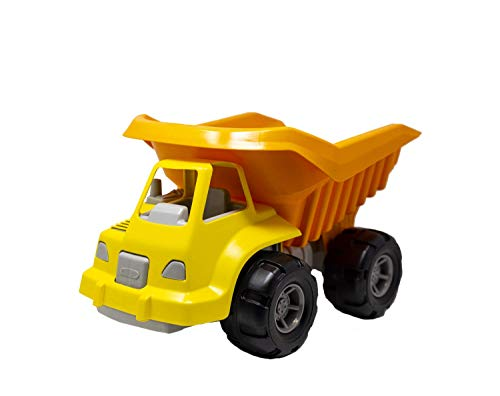 """Back Bay Play Construction Toys 15"""" Orange Dump Truck Vehicle Pretend Play - Sand Toys - Indoor Outside Toys for Toddlers 1-3 and Up – Made in USA"""