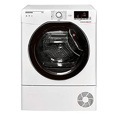 Hoover Dynamic Next DXC9DKE-80 9kg White Condenser Tumble Dryer with Delay Start, Sensor Drying and B Energy Rating
