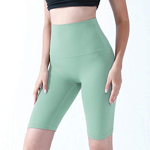 bayrick Explosión de Moda,Alto Cintura Yoga Corta Pendiente a Prueba de Sentadillas de Cuclillas Leggins desnudez y Ninguna línea de vergüenza Pantalones de Montar-1_S