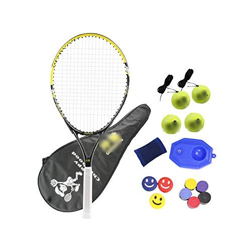 Mikelabo - Raqueta de tenis para niños, diseño de 27 unidades, color amarillo