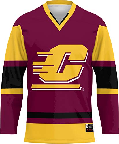 ProSphere Central Michigan University Men's Hockey Jersey () 101C1 (Large) Maroon and Gold