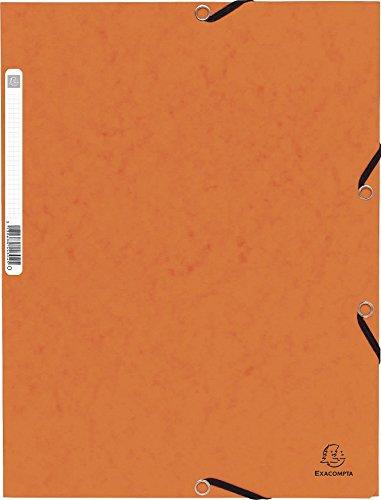 Chemise a elastique 3 rabats carte lustree 355gm nature future - a4