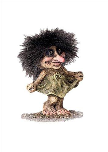 ORIGINAL NORWEGISCHE TROLLE * NyForm Troll mit Zertifikat 030 * Trollmädchen 10cm