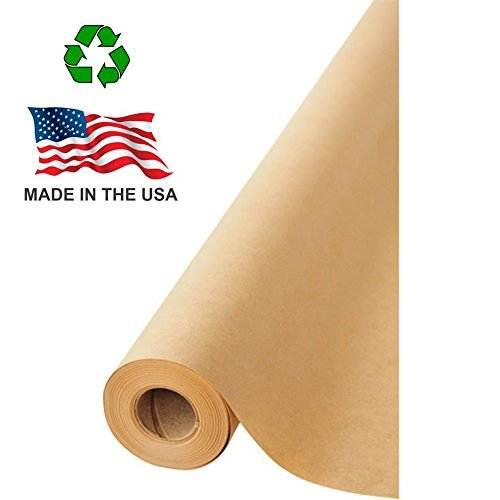 Made in USA Brown Kraft Paper Jumbo Roll 17.75 x 1200 (100ft) Ideal for Gift Wrapping, Art, Craft, Postal, Packing, Shipping, Floor Covering, Dunnage, Parcel, Table Runner 100% Recycled Material