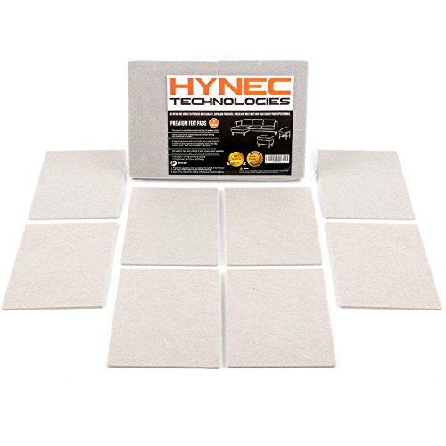 Hynec Almohadillas de Fieltro Adhesivo Premium para Muebles (8 Piezas Grandes) Protector de Suelo Autoadhesivo Muy Resistente para Cortar A Medida 11,3 x 15,3 cm Piezas Rectangulares