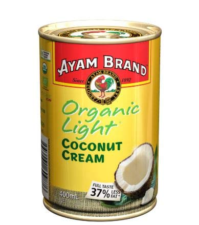 NT# Ayam Brand Coconut Cream - Organic Light 400ml - Enthält 37% weniger Fett bei gleichzeitig hervorragendem Geschmack und vollem Geschmack