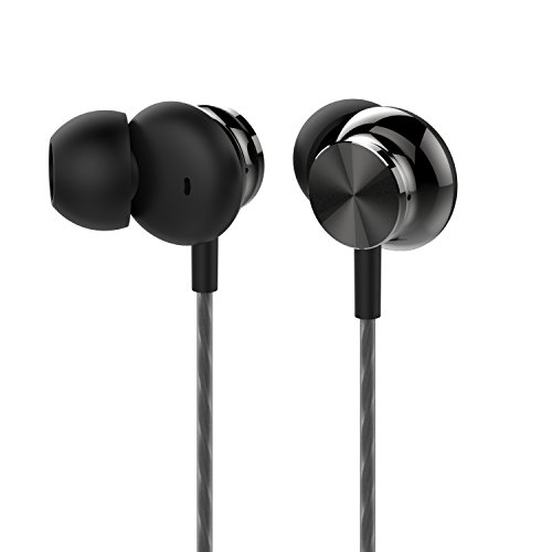 Betron BS10 Earbuds in Ear Headphone Noise Isolating Earphone Tips Powerful Bass Sound 3.5mm Jack Black